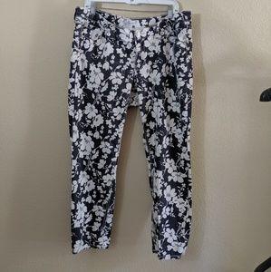 Seven 7 Jeans  Floral Skinny Jeans